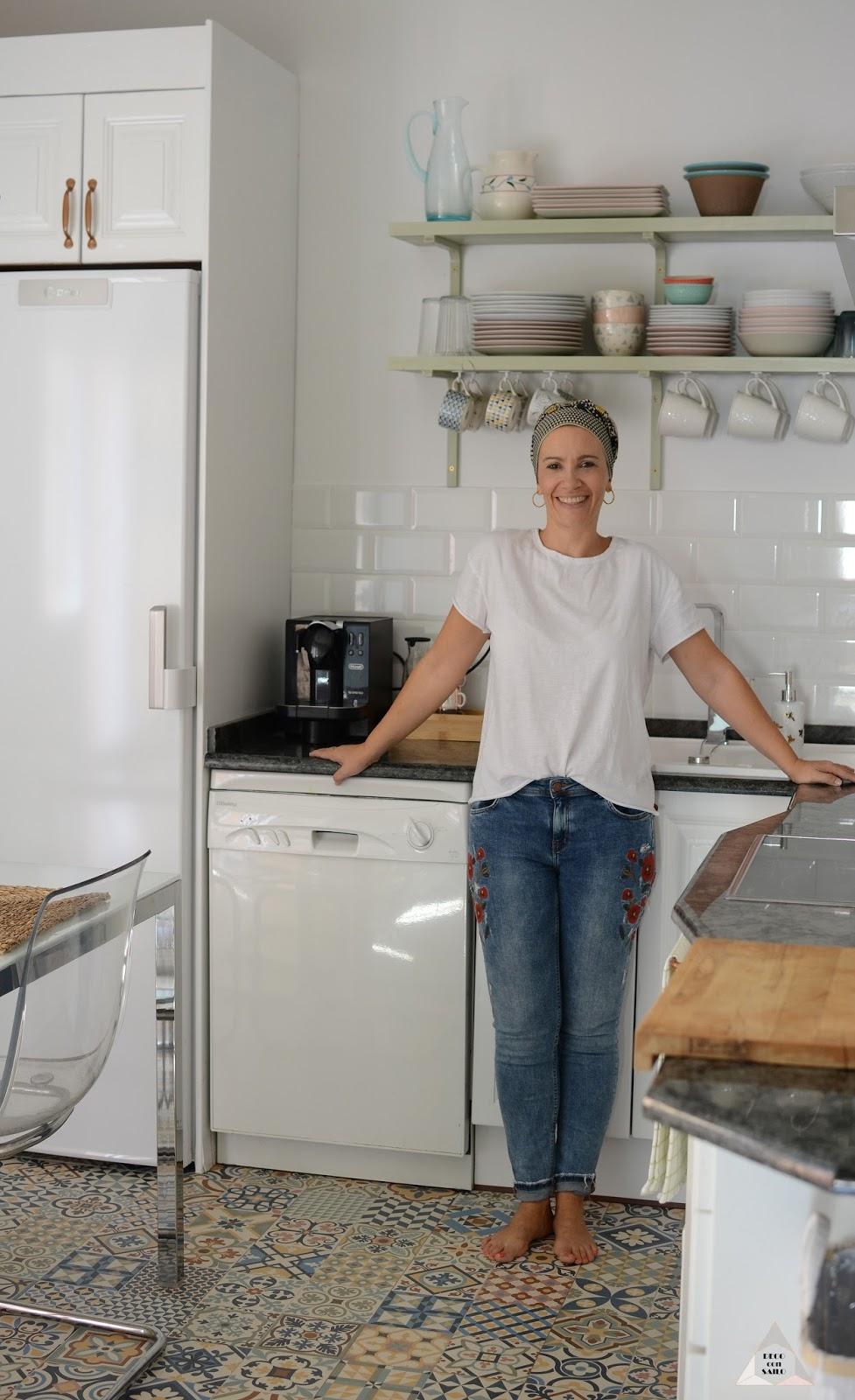 renovación cocina pintar muebles en blanco