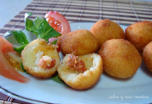 Bolitas de patata. Julia y sus recetas