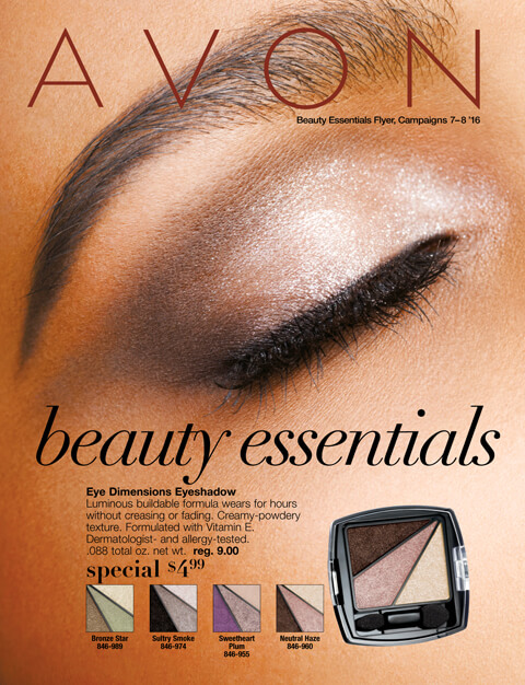 AVON Beauty Essentials Campaign 7-8'16