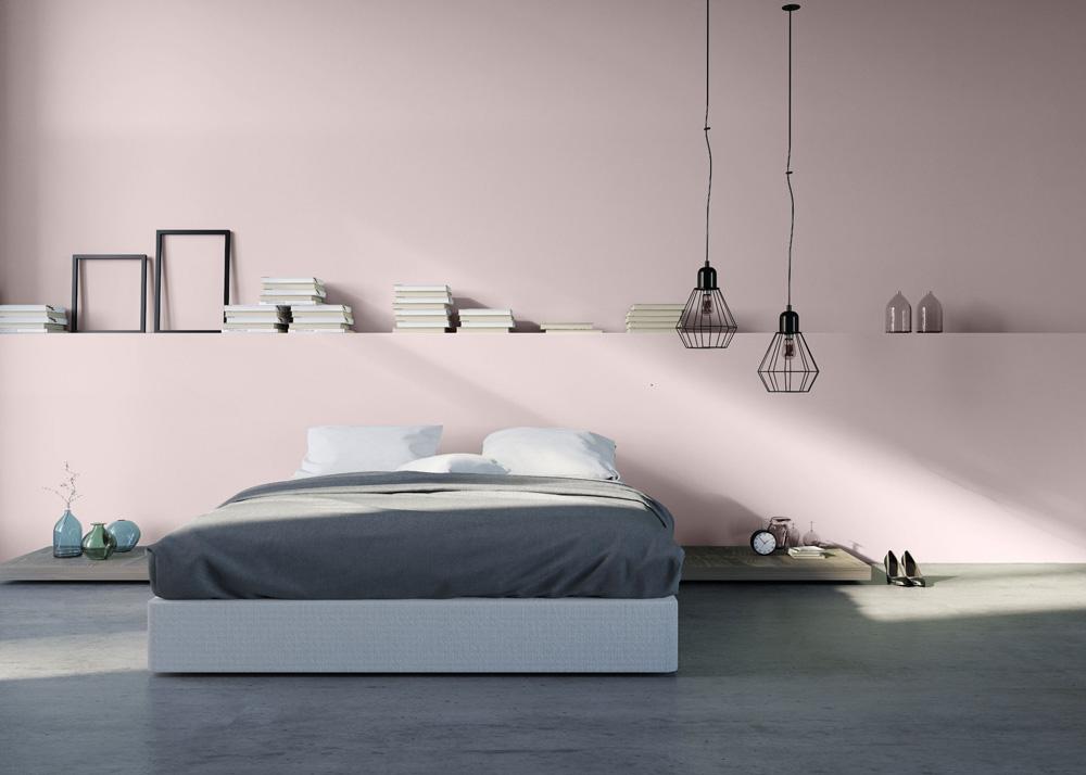 Camera da letto colore parete Antique Ivory di Wilson&Morris