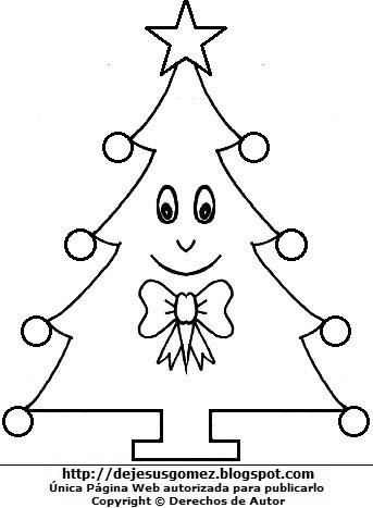 Imagen del Arbol de Navidad para colorear pintar imprimir. Arbol de Navidad de Jesus Gómez
