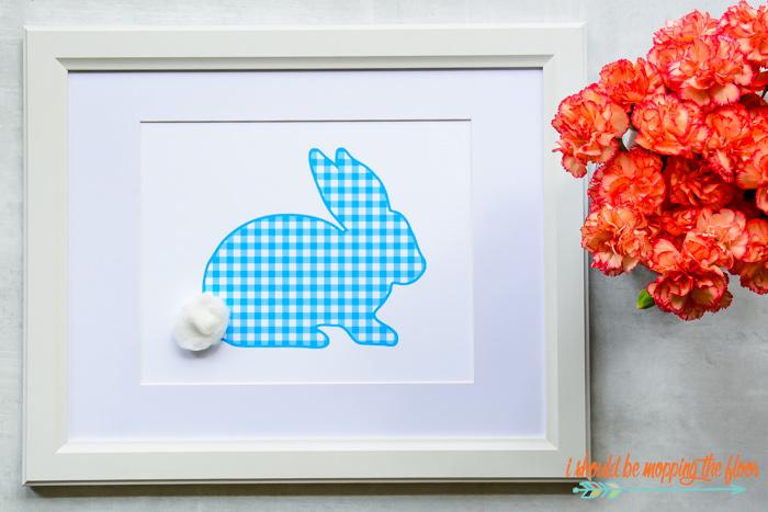 Gingham Rabbit Printable