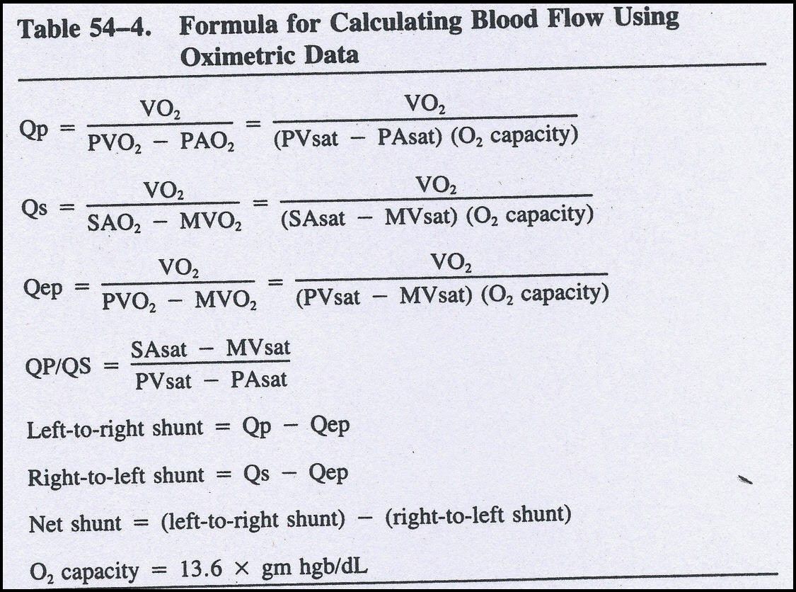 Pedicardiology Quiz Answers Quiz 23 Answer Shunt Calculcation Vsd With Eisenmenger