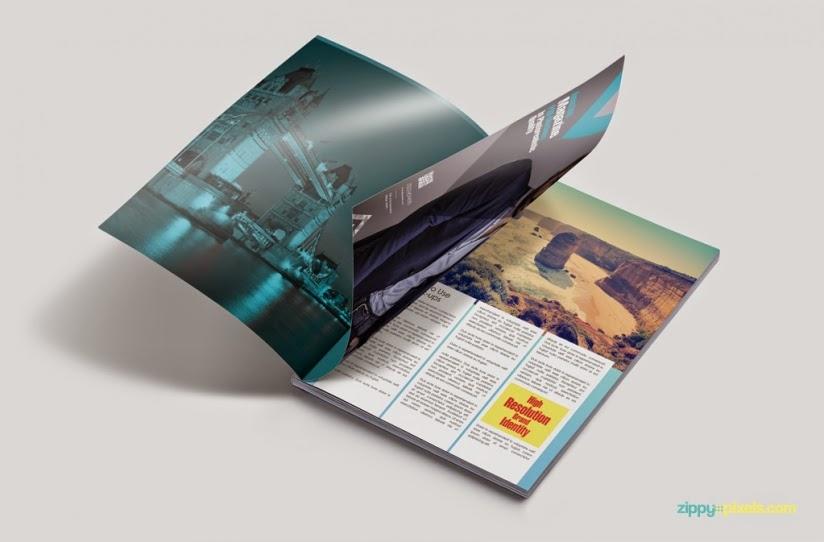 Free Customizable Magazine PSD Mockup