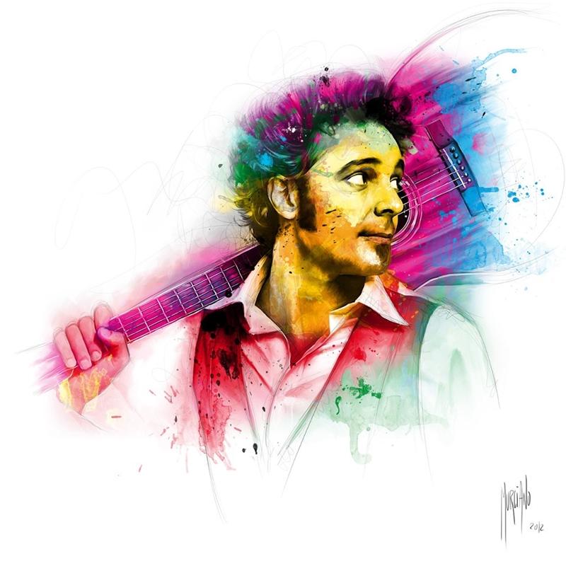 Bob Marley | Greg Laffargue | Patrice Murciano 1969 | French Figurative painter | Pop Art portrait