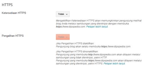 Gambar Posting Fitur HTTPS Untuk Custom Domain Di Blogger