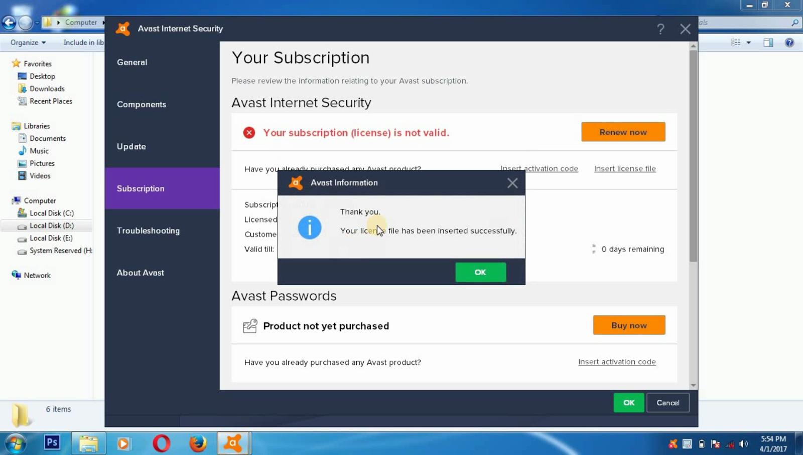 Download free full version Avast Pro Antivirus+Premier Antivirus+Internet Security 17