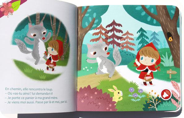 Mes contes à écouter : Le Petit Chaperon rouge de Sophie de Mullenheim et Yu-hsuan Huang - Deux coqs d'or