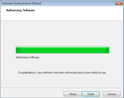 ArcGIS Administrator - Authorization Authorizing software progress - finish