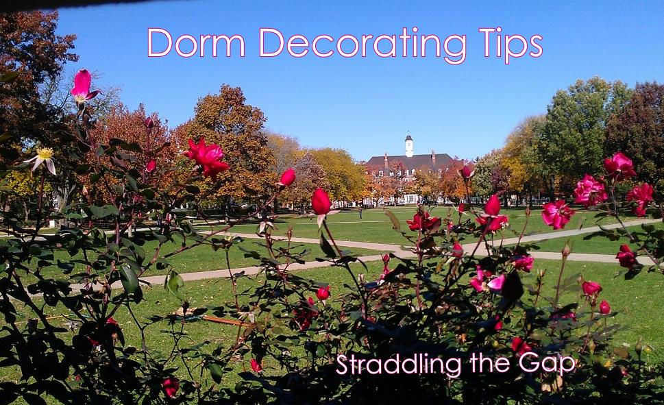 Straddling the Gap: Dorm Decorating Tips