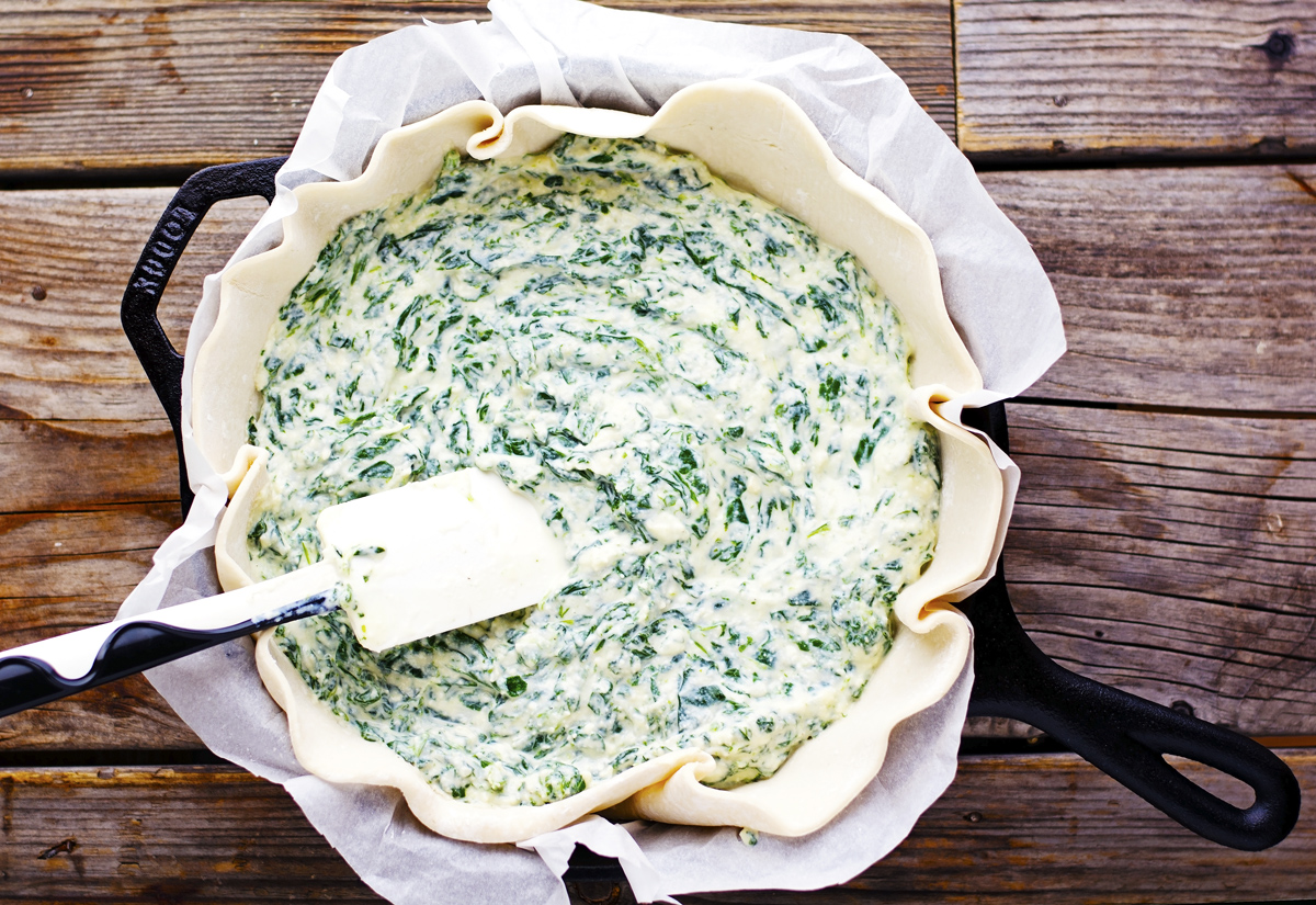 (Easy) Spinach Ricotta Quiche