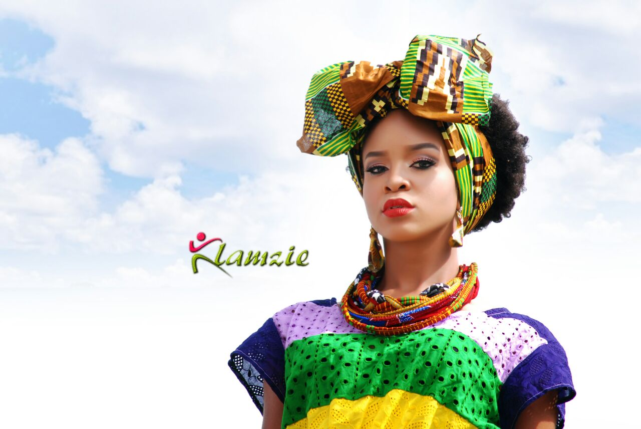 House of Icons model Ij stuns in photo shoot for Klamzie Fashion House.