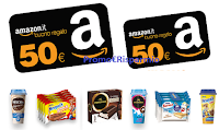 Logo ''Estate 2019 - Shake & Snack'': vinci 126 buoni Amazon da 50€