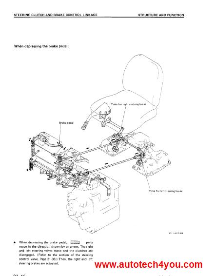 Komatsu D31D37 Bulldozer service manual