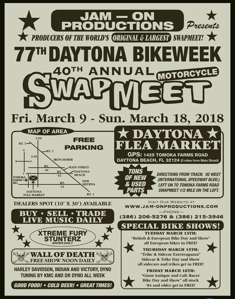 Daytona Bike Week Motorcycle Swap Meet