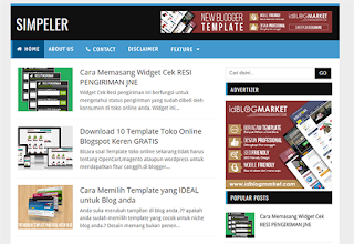 SIMPELER BLOGGER TEMPLATE