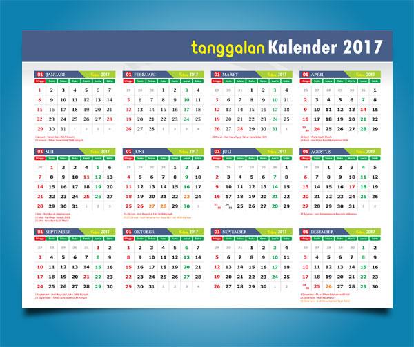 Download Kalender Dinding 2017 coreldraw cdr