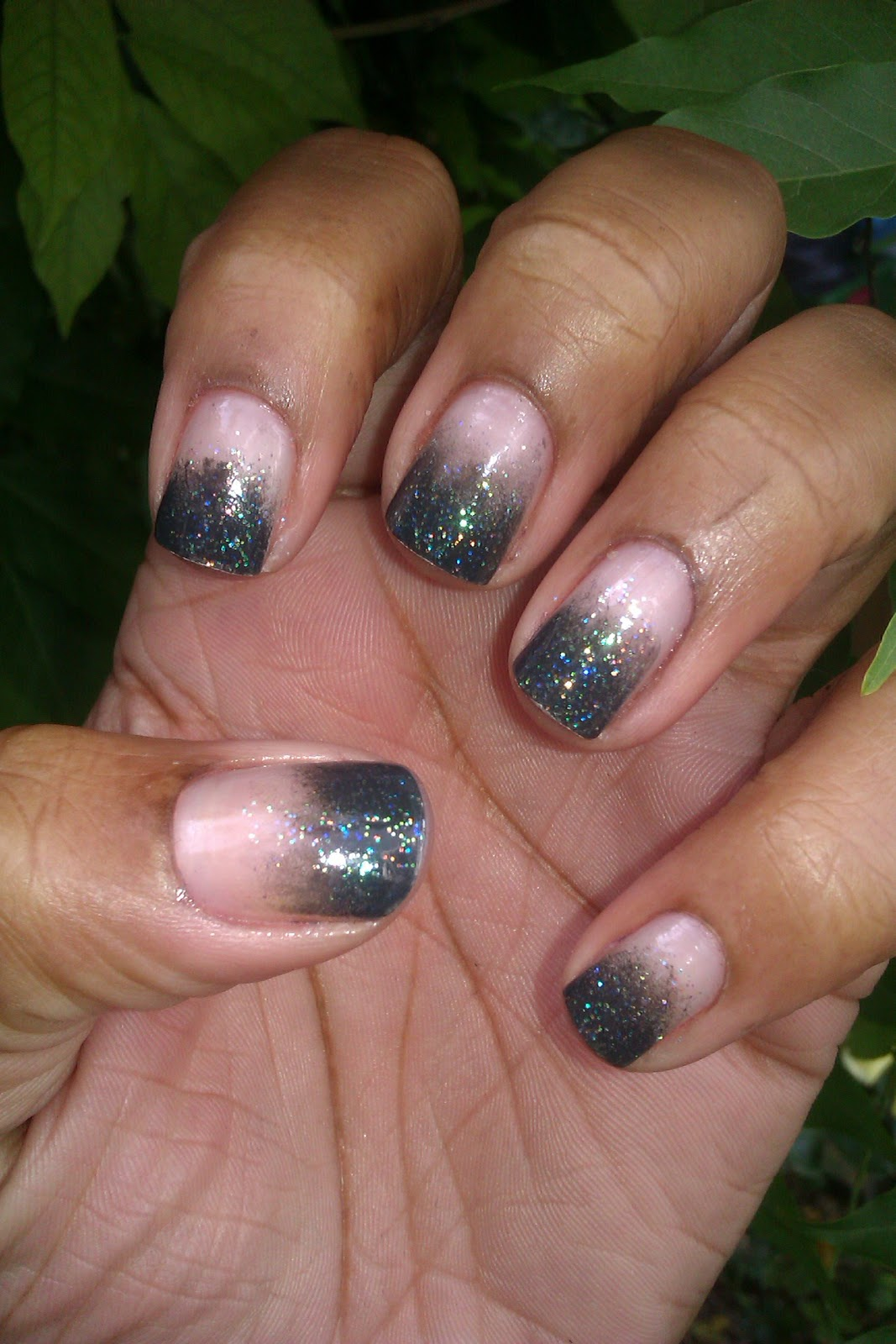 Gradient French Manicure: Fairly Charming: A Gradient, Sponged Frenchie :