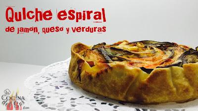 Ratatouille - Espiral de Jamón, queso y verduras facil - Quiche