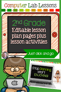 2nd grade technology lesson plans and activities for the entire school year that will make a great supplement to your technology curriculum. These lesson plans and activities will save you so much time coming up with what to do during your computer lab time. Ideal for a technology teacher or a 2nd grade teacher with mandatory lab time. All of the work is done for you!