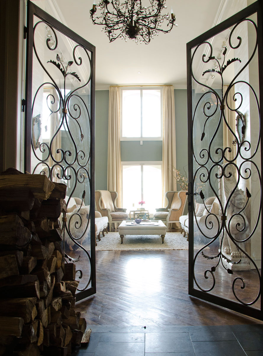 The times new roman luxe living erin fetherston 39 s new - Interior decorative wrought iron gates ...
