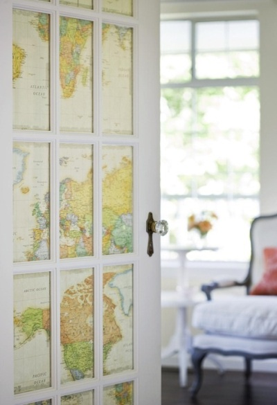 25 Cara Gunakan Peta untuk Dekorasi Rumah