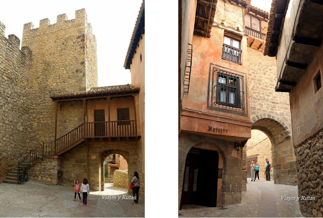 Portal del agua y portal de la Molina, Albarracín, Teruel