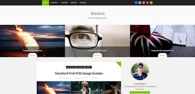 iGenius - скачать бесплатно шаблон для blogger blogspot
