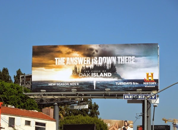 Curse of Oak Island season 2 History billboard