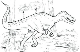 Angry Compsognathus Dinosaur Coloring Sheet For Kids