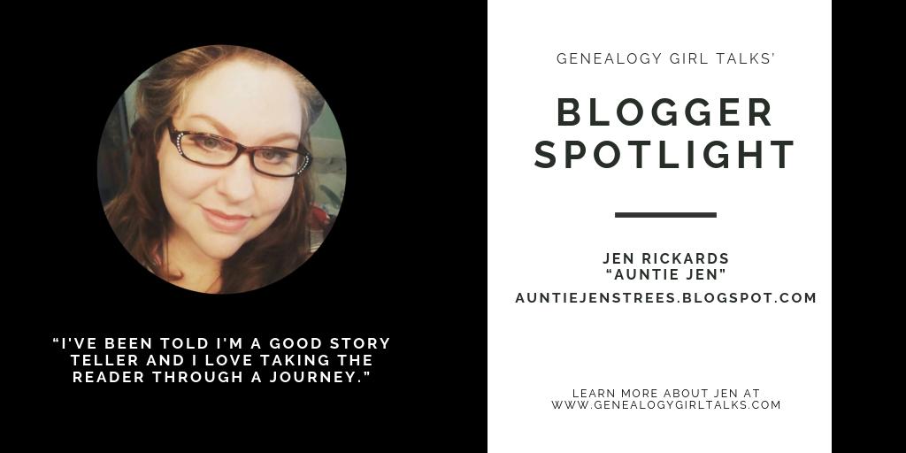 Genealogy Blogger Spotlight: Jen Rickards - Auntie Jen