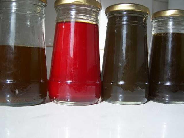 Los macerados cogen el color de algunos de los compuestos de las plantas