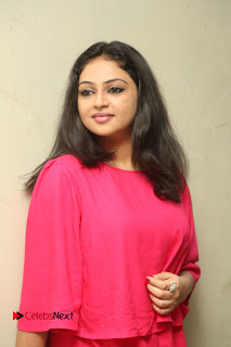 Actress Arundathi Nair Stills in Red Chididar at Bethaludu Success Meet  0059.JPG