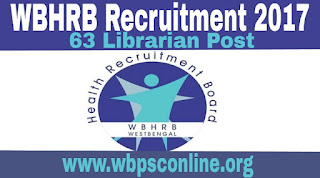 WBHRB Recruitment 2017 - Apply Online For 63 Librarian Post in West Bengal - image wbhrb%2Brecruitment on http://wbpsconline.org