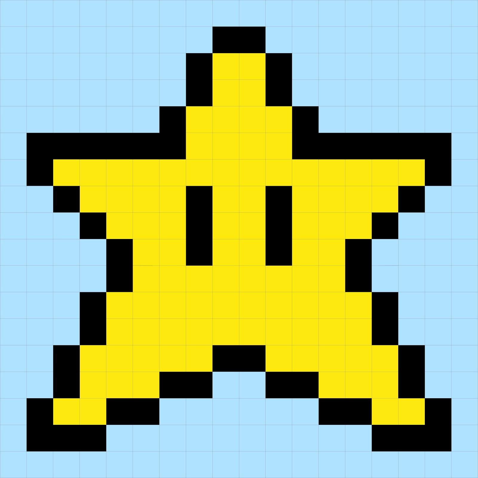 Super Mario Brothers Quilt Along Star Block Angela Pingel Pixel Art