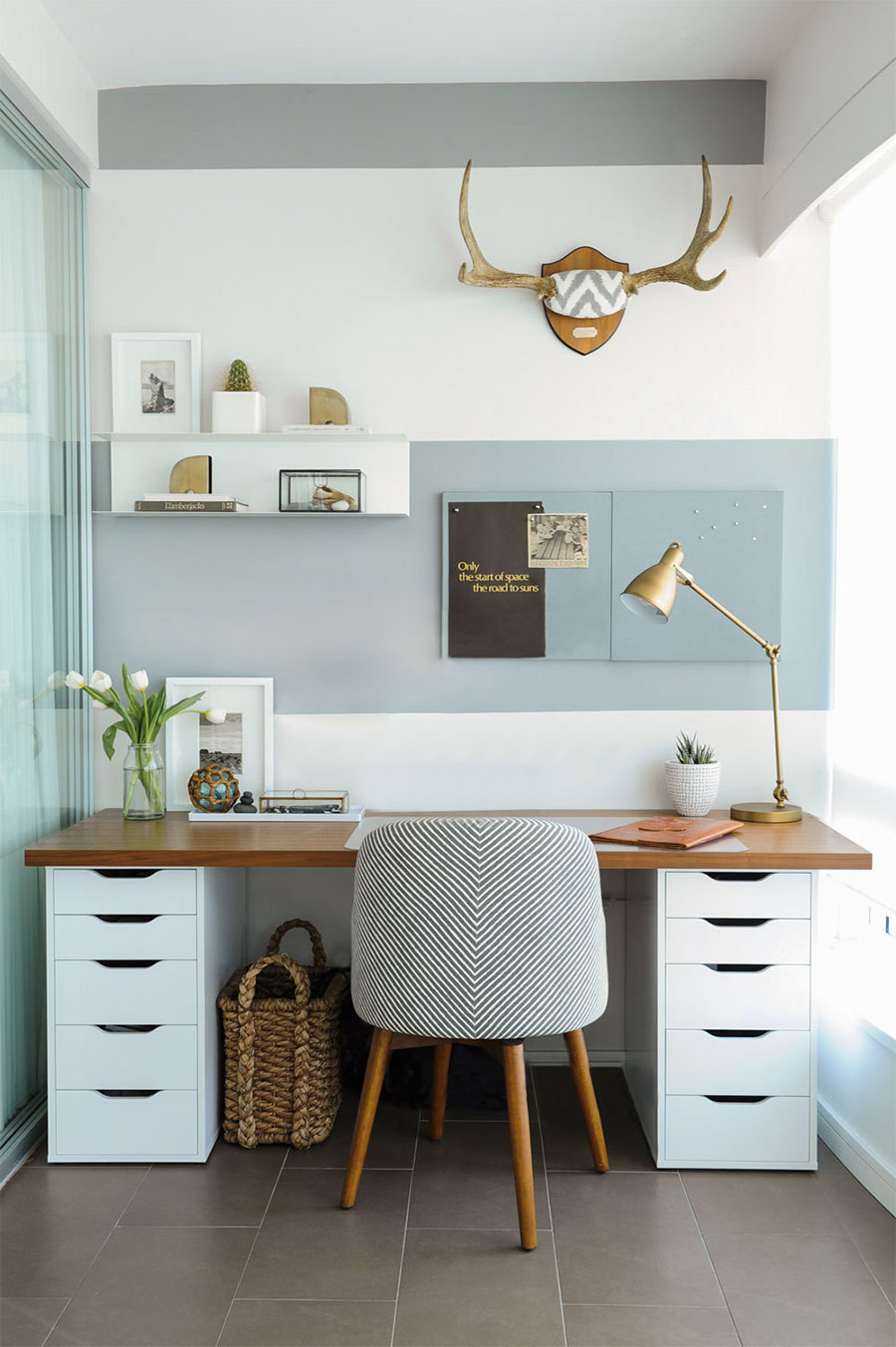 Deco Espacios De Trabajo A Trendy Life Bloglovin  # Muebles Customizados De Ikea