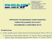 Download Juknis Juklak Ujian Nasional Gelombang 2 (Oktober 2017)