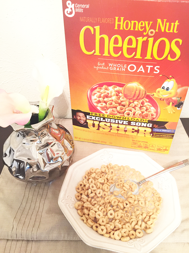 Honey Nut Cheerios and Usher