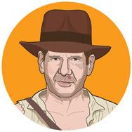 Indiana Jones y el Templo de Doom, 1984: INDIANA JONES: una arqueóloga que busca una piedra mística en la India.