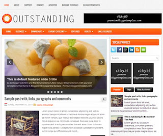 Outstanding Blogger Template