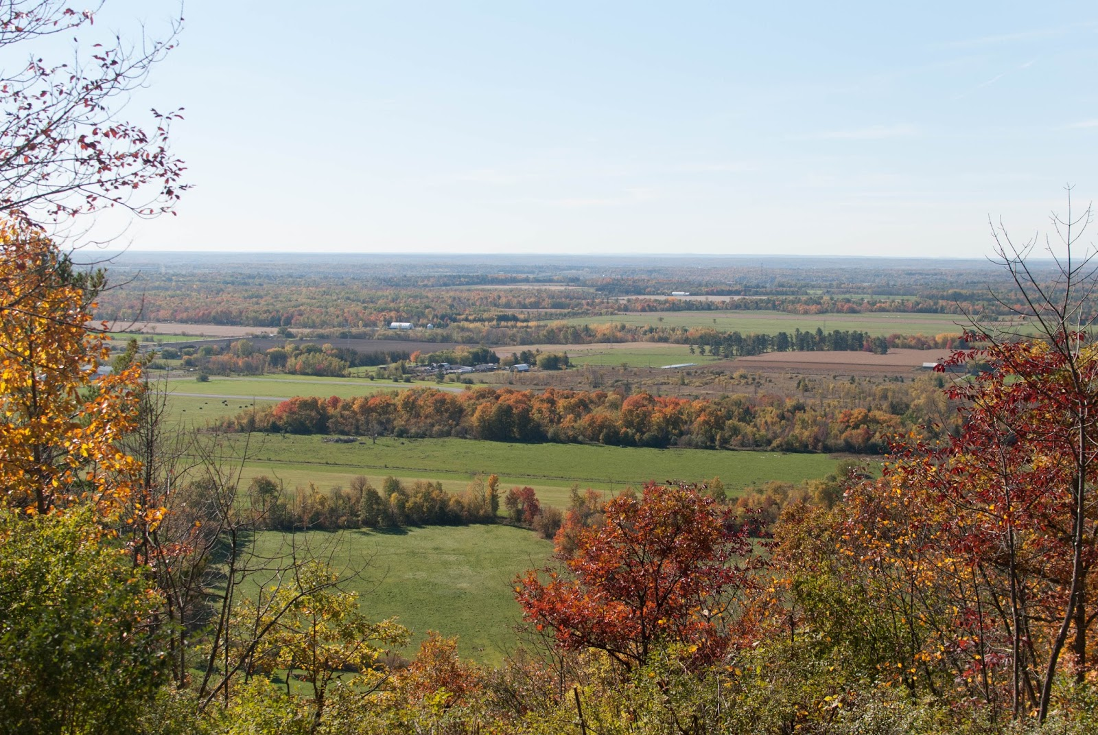 picture of gatineau hills in the fall