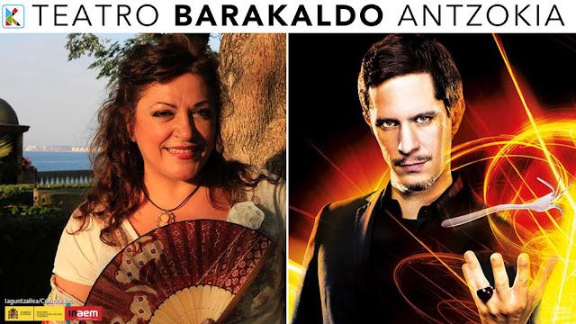 el mentalista Toni Bright y la cantaora Carmen de la Jara