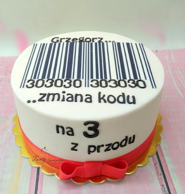 tort z kodem kreskowym