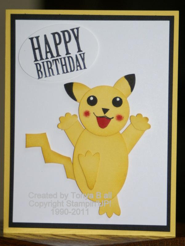 Stampin With Tonya Pokemon Birthday