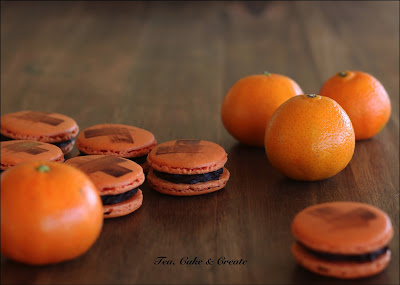 Clementine and Ginger Macarons