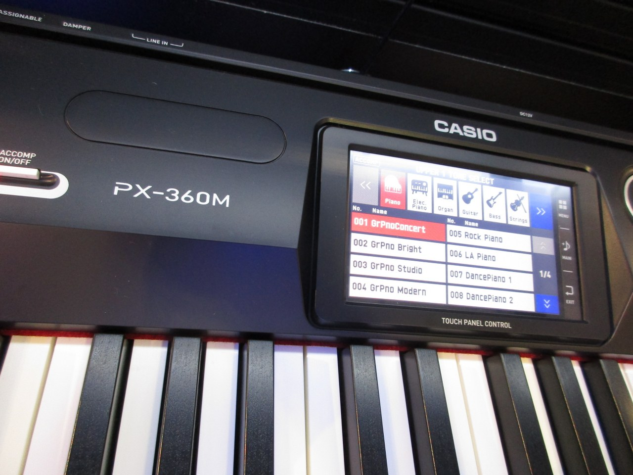 Piano With Screen