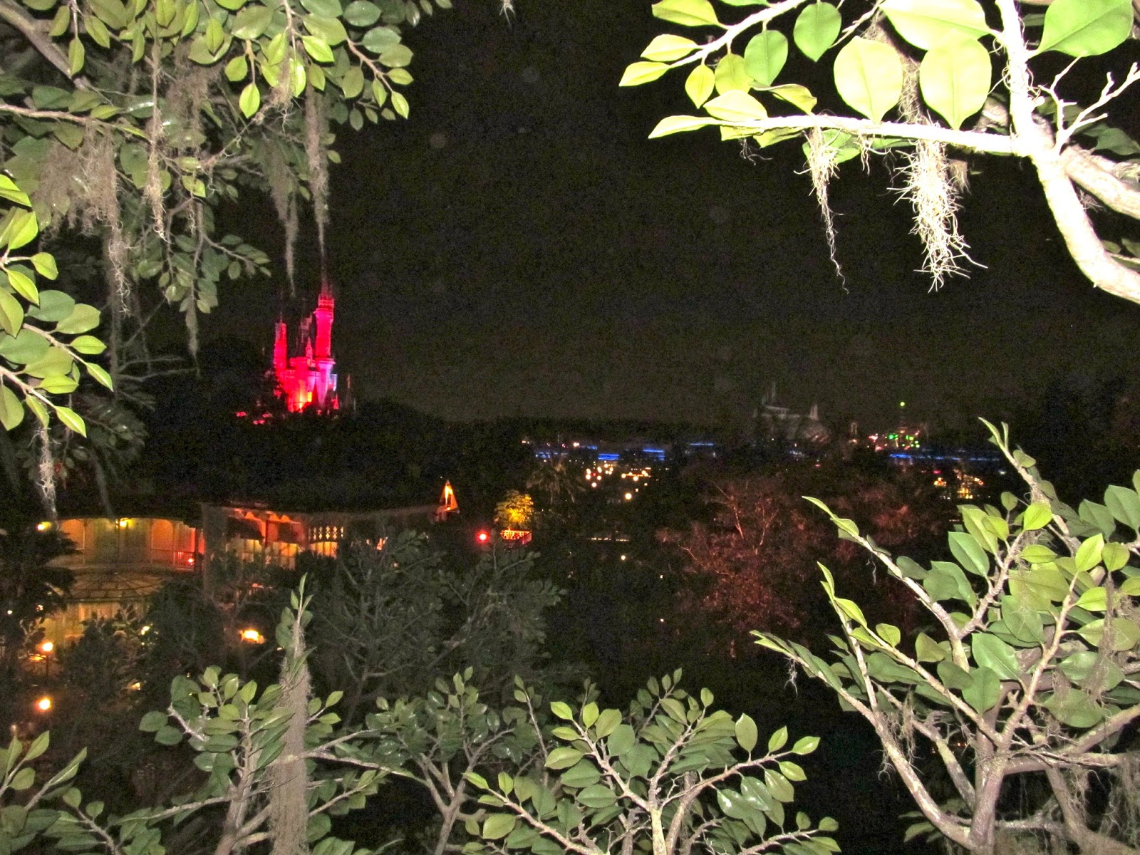 The View of the Castle from the Top of the Swiss Family Robinson Tree during Mickey's Not So Scary Halloween Party - www.ouroutdoortravels.blogspot.com