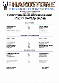 Hardstone Boxing Promotion Fight Card