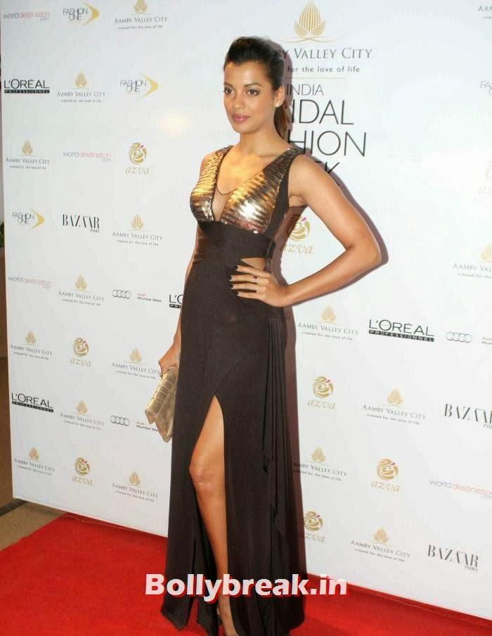 Mugdha Godse, Hot Celebs at India Bridal Fashion Week 2013