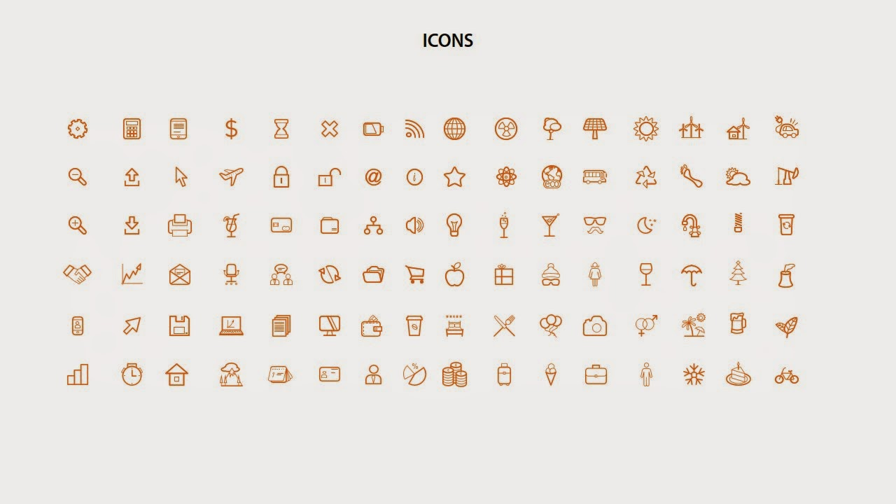 all icons converted to vector objects and ready to use features of this product fully editable flat color palette both pptx and ppt available 01 slide